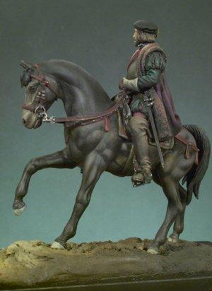 Hernán Cortes a caballo  (Vista 3)