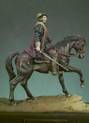 Hernán Cortes a caballo  (Vista 4)