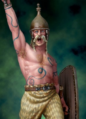Guerrero Celta, Siglo I A.C  (Vista 3)