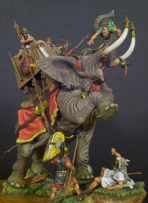 Elefante de Guerra Cartaginés 202 AC  (Vista 1)