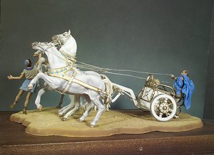 Quadriga Carro de carreras Romano  (Vista 2)