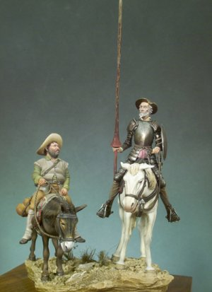 Don Quijote y Sancho  (Vista 2)