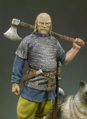 Jefe vikingo  siglo X d. C  (Vista 4)