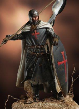 Templario con Bandera, siglo XII  (Vista 1)