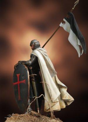 Templario con Bandera, siglo XII  (Vista 3)