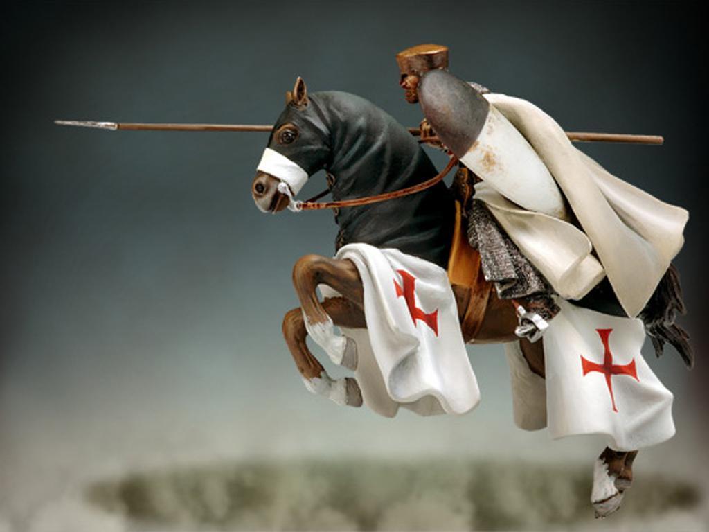 Maestro Templario a caballo, siglo XII  (Vista 1)