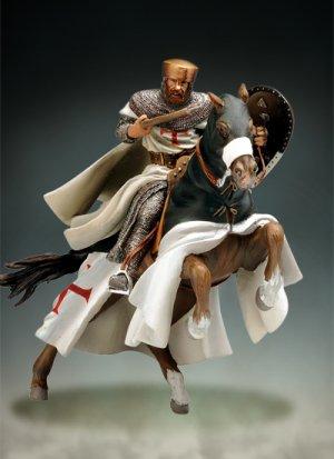 Maestro Templario a caballo, siglo XII  (Vista 2)