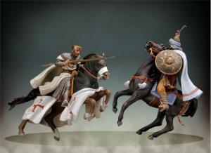 Maestro Templario a caballo, siglo XII  (Vista 4)