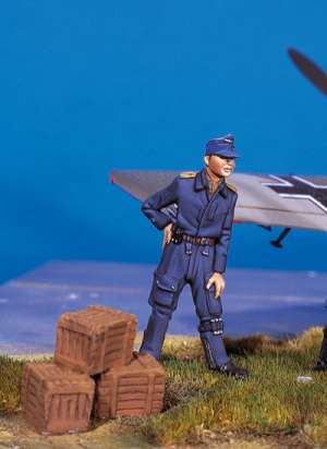 Piloto alemán en descanso II  (Vista 1)