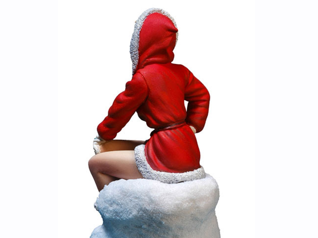 Chica Santa Claus.  (Vista 2)