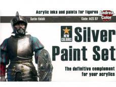 Set de pintura plateado. - Ref.: ANDR-ACS007