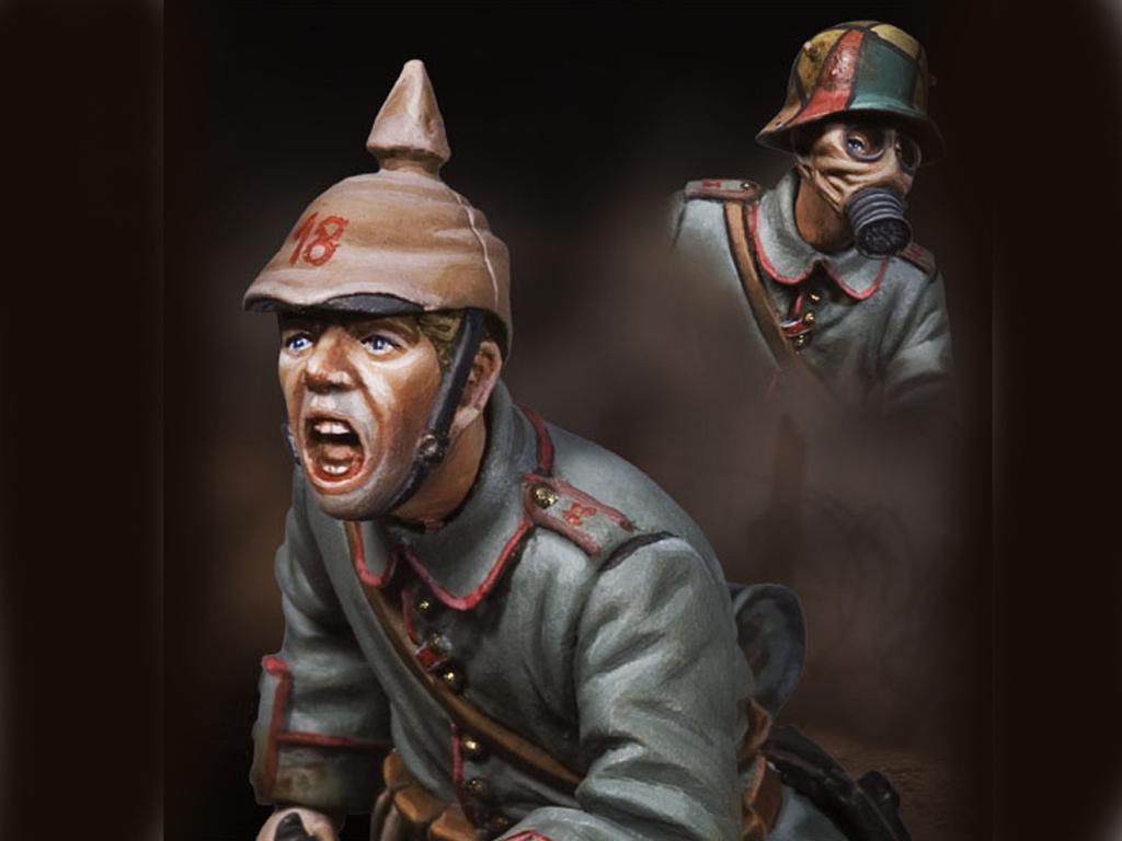 Infanteria alemana cargando 1915 (Vista 2)