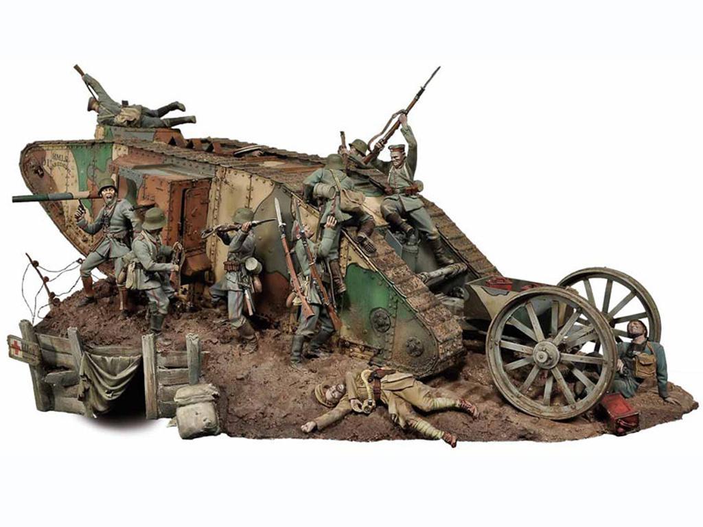 Lucha de tanques en el Frente Occidental, 1916 (Vista 1)