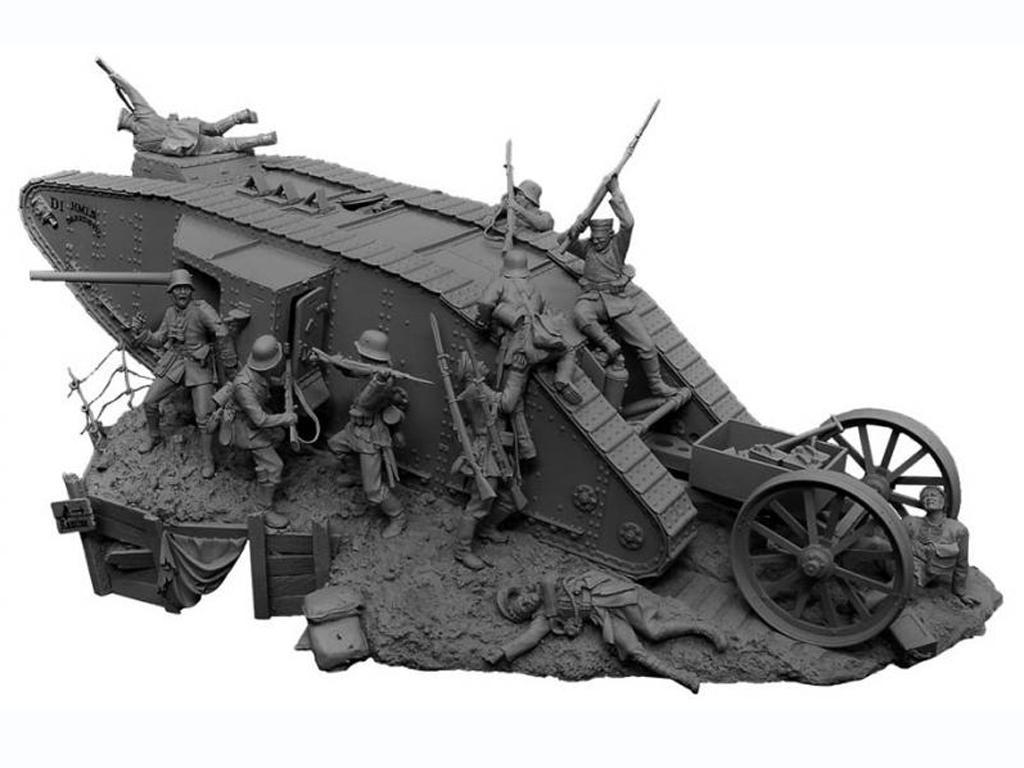 Lucha de tanques en el Frente Occidental, 1916 (Vista 2)