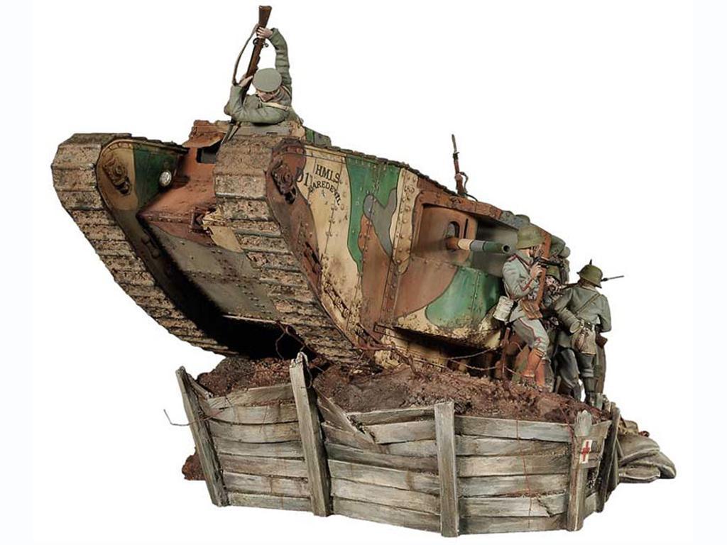 Lucha de tanques en el Frente Occidental, 1916 (Vista 3)