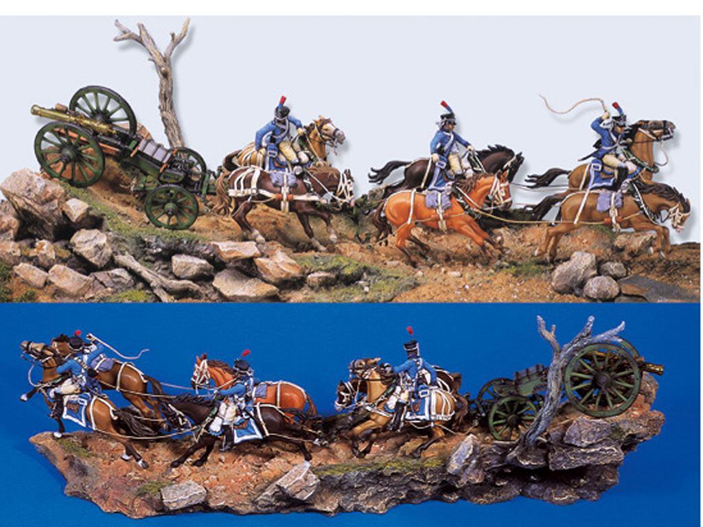 Tren de artillería de línea Napoleónico (Vista 1)
