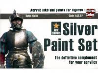 Set de pintura plateado. (Vista 3)