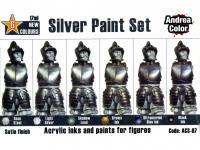 Set de pintura plateado. (Vista 4)