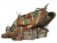 Lucha de tanques en el Frente Occidental, 1916 (Vista 10)
