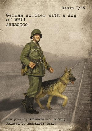 German soldier with a dog of WWII  (Vista 1)