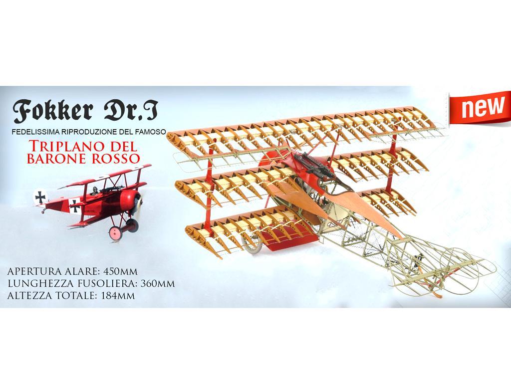 Fokker Dr.I, el Triplano del Barón Rojo (Vista 1)