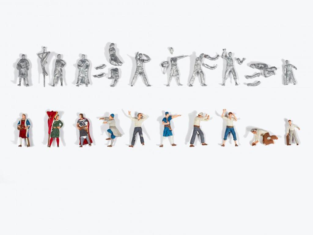 Set de 10 figurines en metal  (Vista 3)