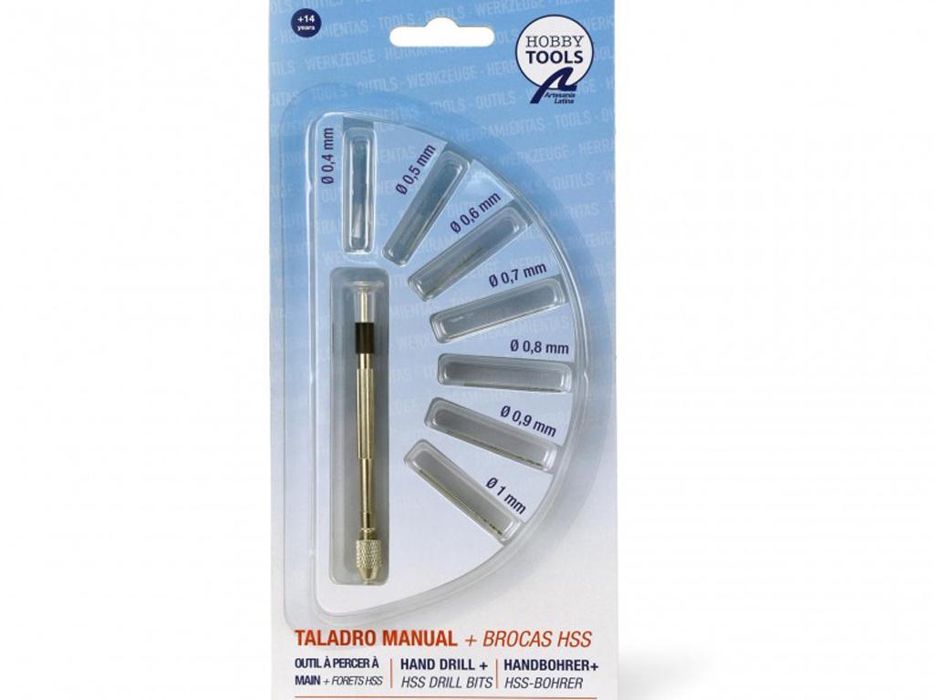 Mini Taladro Manual con 7 Brocas HSS (Vista 1)