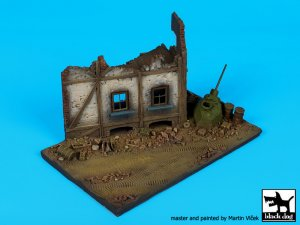 Street with house ruin N°2 base  (Vista 2)