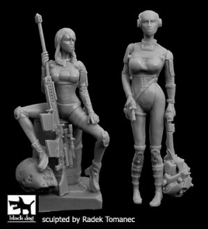 Woman hunters cyborgs set  (Vista 1)