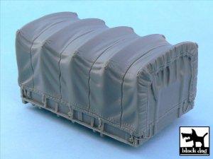 US 1 1/2 ton Cargo Truck cargo bay canva  (Vista 1)