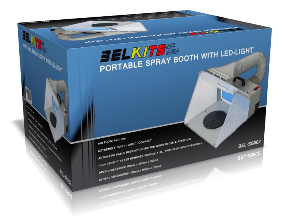 Cabina con succión portable LED (Vista 1)