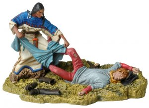 Squaw looting US Cavalryman  (Vista 1)