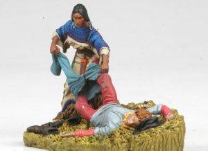 Squaw looting US Cavalryman  (Vista 3)