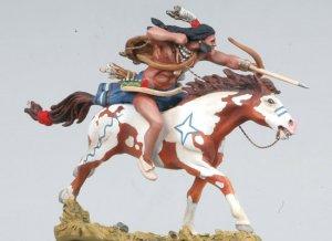 Cheyenne galopante disparando flecha  (Vista 4)