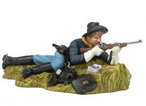 Laid down US Cavalryman shooting carbine  (Vista 1)