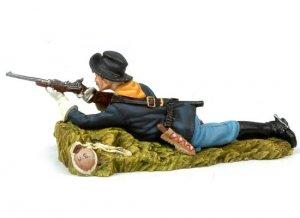 Laid down US Cavalryman shooting carbine  (Vista 4)