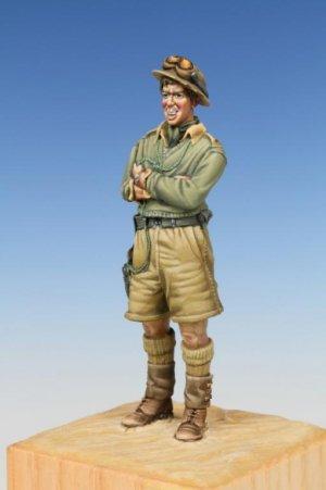 British Tank Crewman WW II Western Deser  (Vista 3)