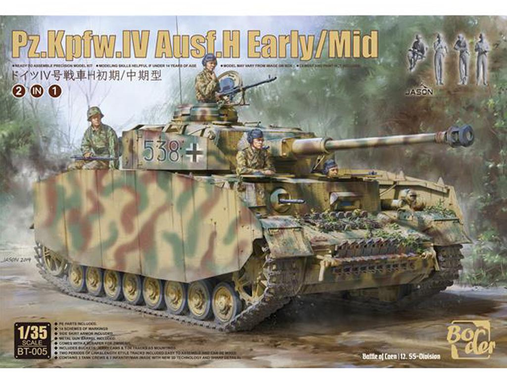 Panzer IV H Temprano / Medio con 4 Figuras (Vista 1)