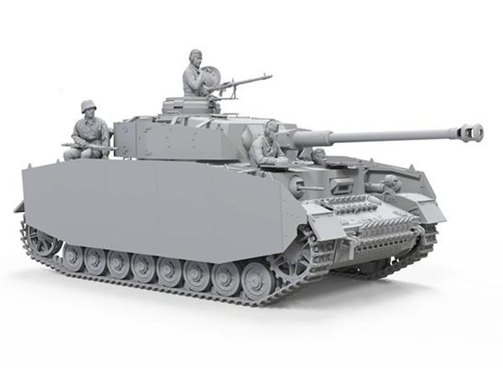 Panzer IV H Temprano / Medio con 4 Figuras (Vista 3)
