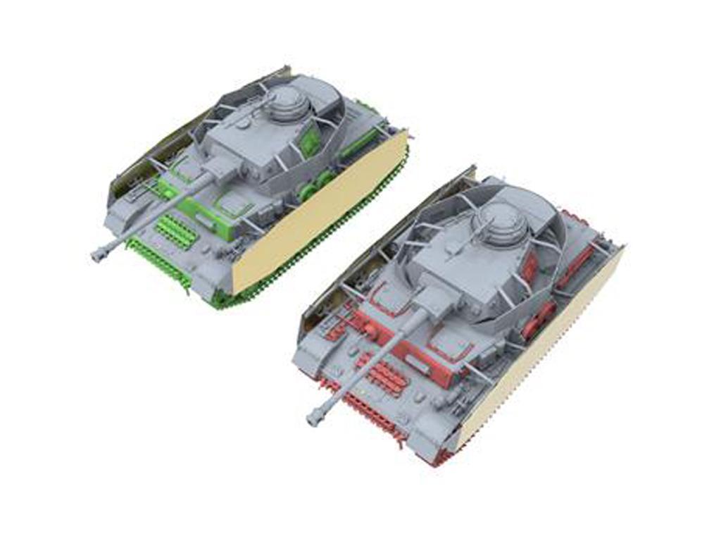 Panzer IV H Temprano / Medio con 4 Figuras (Vista 4)