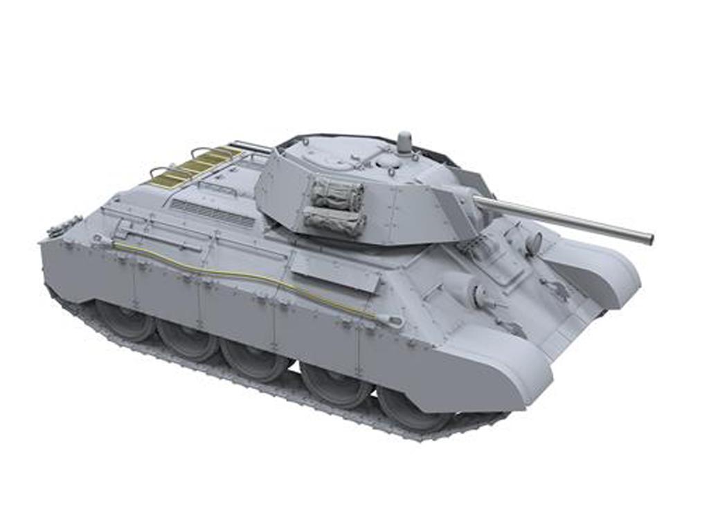 T-34 revisado (tipo 1) y T-34-76 (Vista 4)