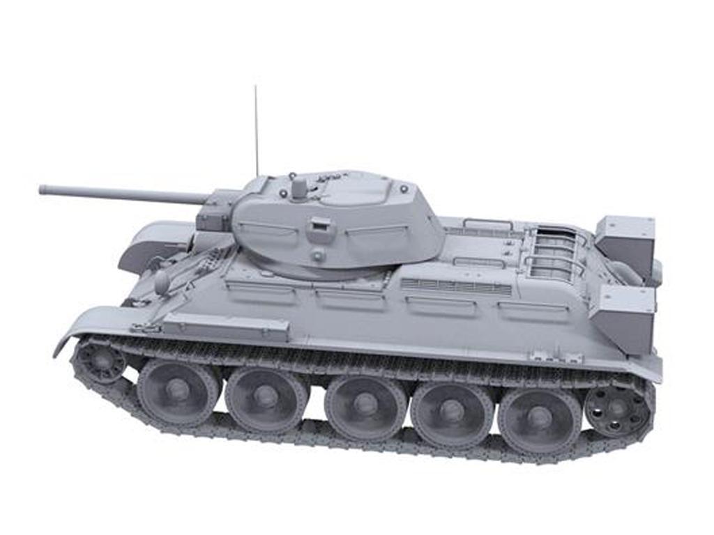 T-34 revisado (tipo 1) y T-34-76 (Vista 5)