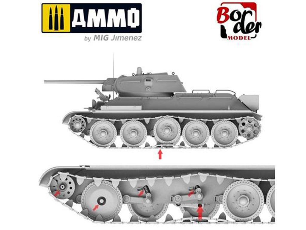 T-34 revisado (tipo 1) y T-34-76 (Vista 6)