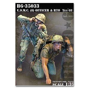 USMC (6) Officer & RTO Tet`68  (Vista 1)