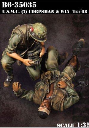 U.S.M.C. (7) Corpsman & WIA Tet '68  (Vista 1)