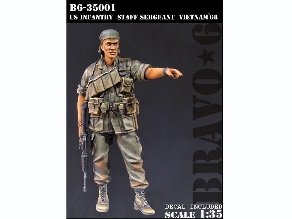Sargento de Infantería de los Estados Unidos Vietnam 1968 (Vista 1)