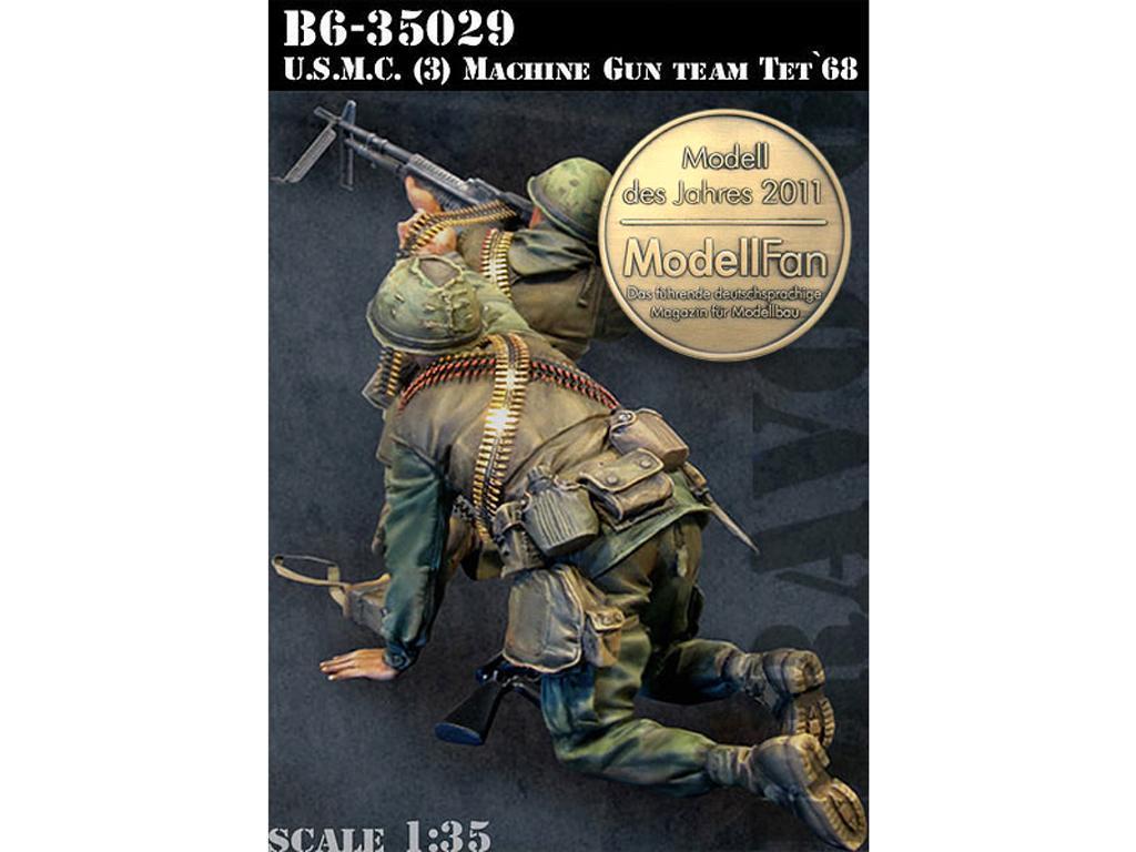 U.S.M.C. (3) Machine Gun Team TET '68 (Vista 1)