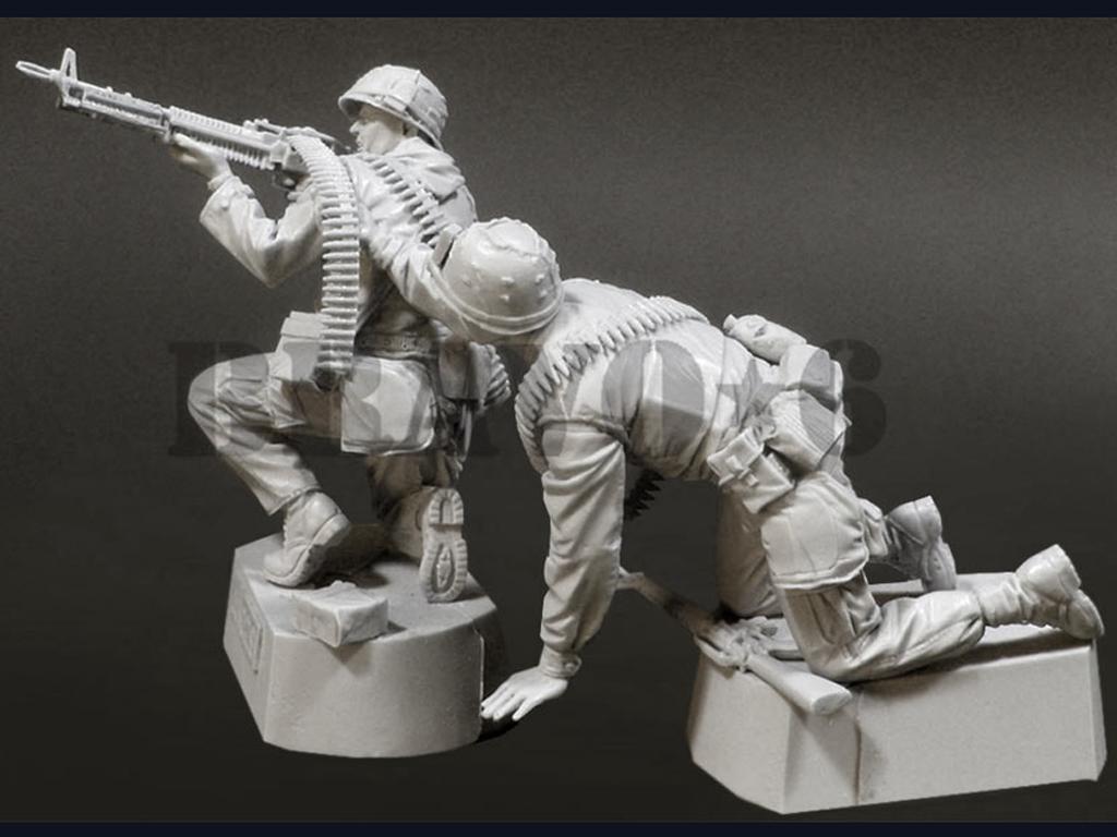 U.S.M.C. (3) Machine Gun Team TET '68 (Vista 3)