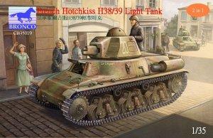 French Hotchkiss H38/39 Light Tank  (Vista 1)