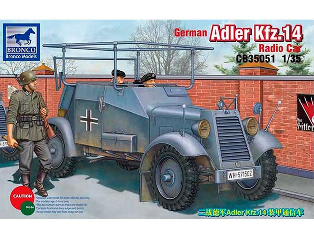 German Adler Kfz. 14 Radio car  (Vista 1)